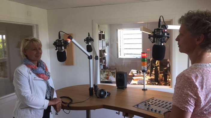 Radiointerview beim Friisk Funk